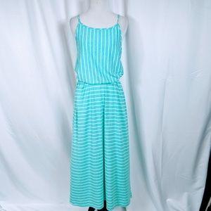 Merona Striped Blue Maxi dress full length